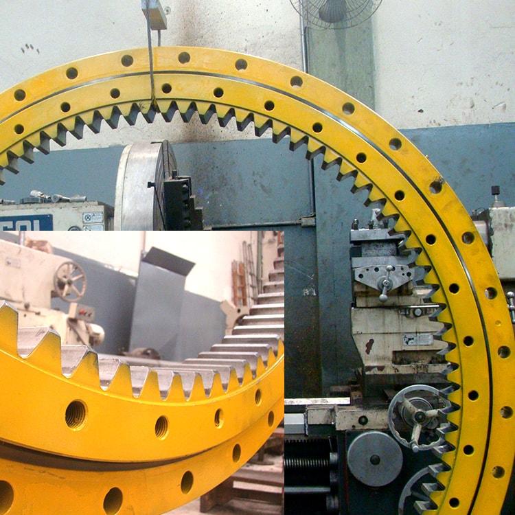 Rolamento Engrenado / Coroa de Giro de guindastes e escavadeiras: Reforma e Fabricação